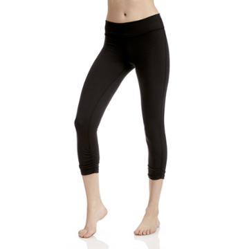 Beyond Yoga Beyond Yoga Essential Gathered Capri Legging - Black