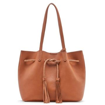 Sole Society Sole Society Costello Slouchy Tote W/ Whipstitch Detail - Cognac
