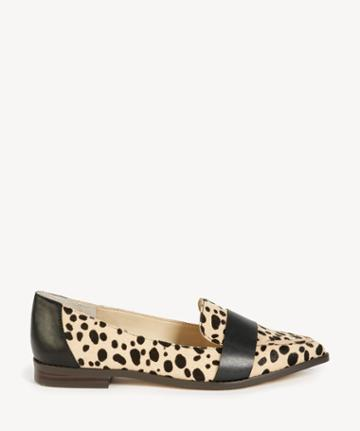 Sole Society Women's Edie Smoking Slippers Flats Tan Black Size 5 Leather Suede From Sole Society