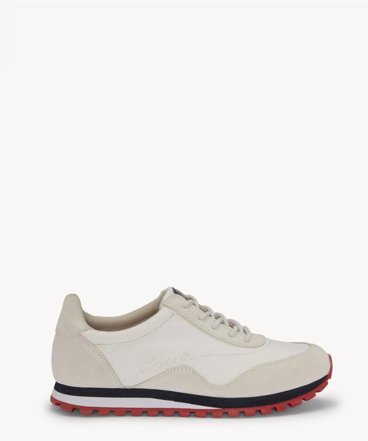 Ed Ellen Degeneres Ed Ellen Degeneres Women's Fabrey Sneakers Milk/gris Size 5 Fabric From Sole Society