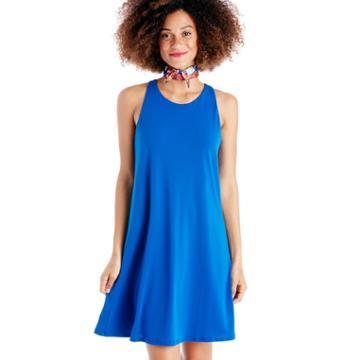 Cece Cece Crepe Knit Twist Back Halter Dress - Deep Cobalt-xs