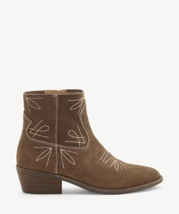 Lucky Brand Lucky Brand Women's Floriniah Ankle Bootie Sesame Size 5 Suede Leather From Sole Society