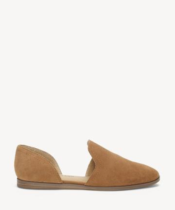 Lucky Brand Lucky Brand Women's Jinree Flats Macaroon Size 5 Suede Leather From Sole Society