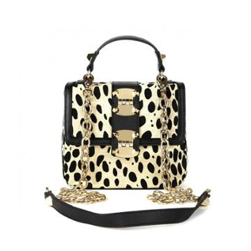 Sole Society Sole Society Myra Hinge Mini Bag - Leopard