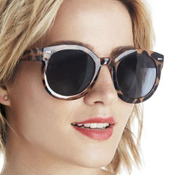 Sole Society Sole Society Brennan Classic Oversize Sunglasses - Dark Tortoise-one Size