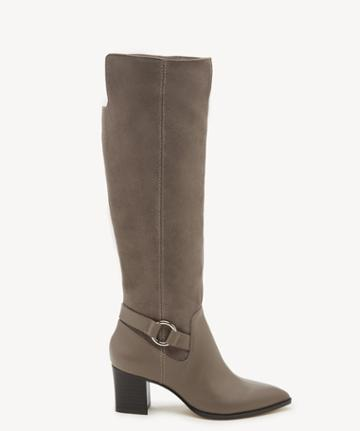 Sole Society Women's Daleena Tall Heeled Boots Fall Taupe Size 5 Leather Suede From Sole Society