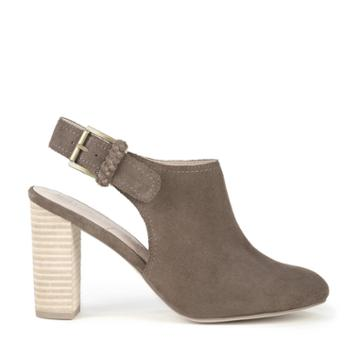 Sole Society Sole Society Apollo Backless Bootie - Dark Taupe-6.5