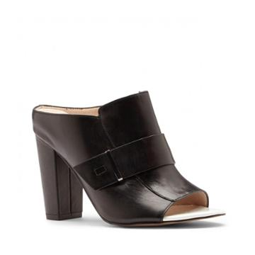 French Connection French Connection Kadyn Leather Mule - Black