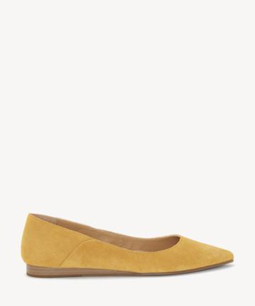 Lucky Brand Lucky Brand Women's Bylando Pointed Toe Flats Inca Gold Size 5 Leather From Sole Society