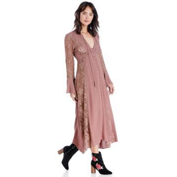 Astr Astr Anastasia Dress - Dark Mauve