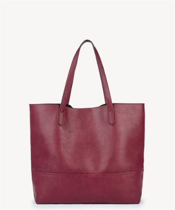Sole Society Women's Dawson Overd Shopper Bag Oxblood Faux Leather From Sole Society