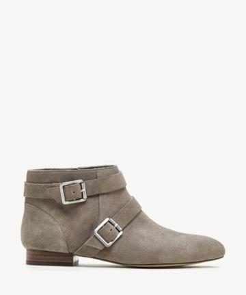 Sole Society Women's Melessie Buckle Bootie Mushroom Size 5 Cow Split Suede From Sole Society