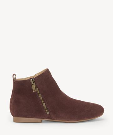 Lucky Brand Lucky Brand Women's Glexi Flats Bootie Raisin Size 5 Suede From Sole Society
