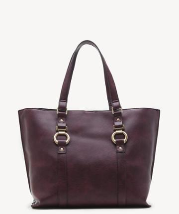 Sole Society Women's Marah Tote Vegan Oxblood Vegan Leather From Sole Society