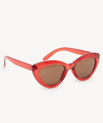 Sole Society Women's Kels Slim Cat Eye Sunglasses Red One Size Plastic From Sole Society