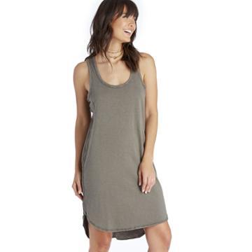 Heather Heather Rib Panel Tank Dress - Deco-x-small