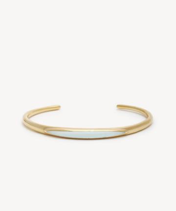 Sole Society Women's Cuff Bracelet 12k Soft Polish Gold/amazonite Size Onesize From Sole Society
