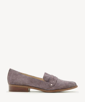 Sole Society Women's Jessica Smoking Slippers Dusted Plum Size 5 Haircalf From Sole Society