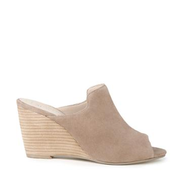 Sole Society Sole Society Drew Peep Toe Wedge - Light Taupe-5