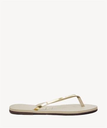 Havaianas Havaianas You Metallic Flip Flop Sand Grey Light Golden Size 6 Rubber From Sole Society