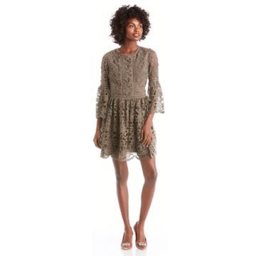 J.o.a. J.o.a. Ruffle Sleeve Fit And Flare Dress - Charcoal-xs