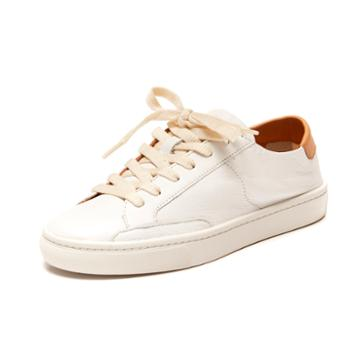 Soludos Ibiza Leather Sneaker In White
