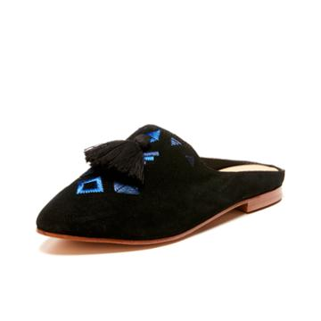 Soludos Palazzo Mule In Black