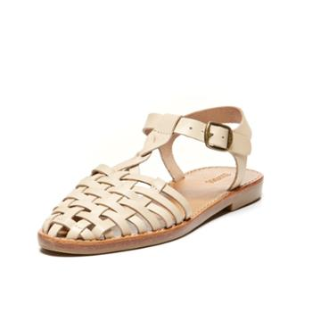 Soludos Woven Fisherman Sandal In Bisque