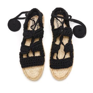 Soludos X Watg Diy Platform Sandal In Black