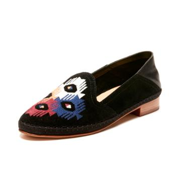 Soludos Embroidered Venetian Loafer In Black