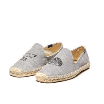 Soludos Chicken Waffle Smoking Slipper In Gris