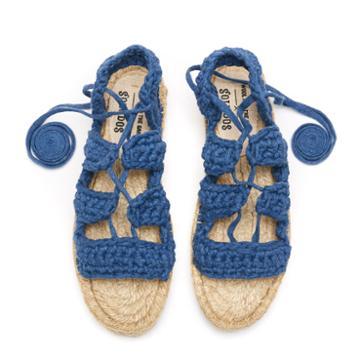 Soludos X Watg Diy Platform Sandal In Nautical Blue
