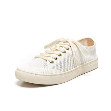 Soludos Mesh Tennis Sneaker In White