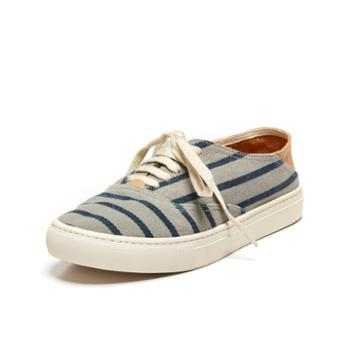 Soludos Lace Up Convertible Classic Sneaker In Gray/navy