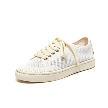 Soludos Mesh Lace Up Sneaker In White