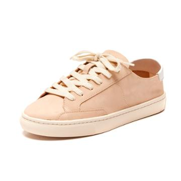 Soludos Ibiza Leather Sneaker In Nude