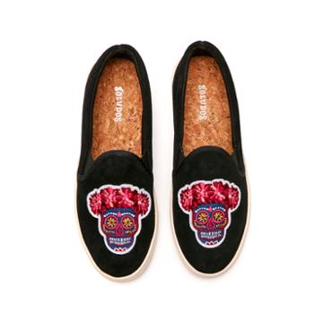 Soludos Day Of The Dead Sneaker In Black