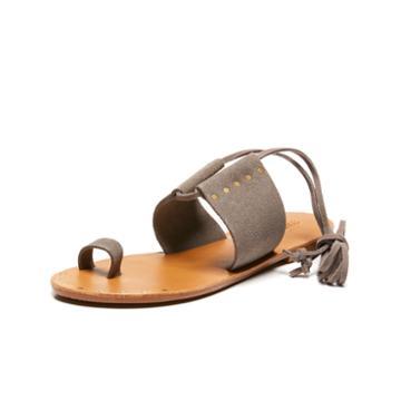 Soludos Milos Sandal In Dove Gray