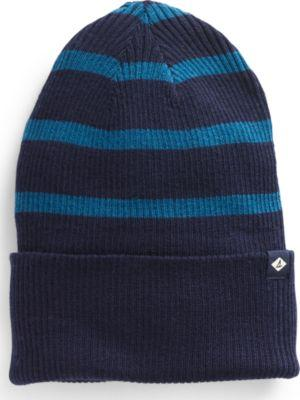 Sperry Rugby Stripe Beanie Navy/blue, Size One Size Women's