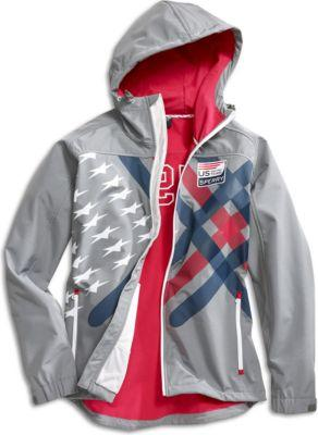 Sperry Us Sailing Team Soft Shell Hooded Performance Jacket Grey, Size M Men's