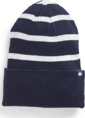 Sperry Rugby Stripe Beanie Navy/white, Size One Size Women's