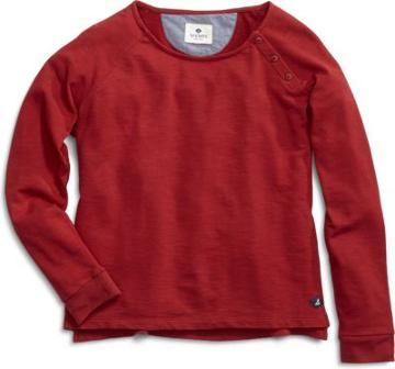 Sperry Knit Cropped Boatneck Sweater Red, Size M Women's