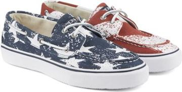 Sperry Bahama Stars And Stripes Sneaker Red/white/blue, Size 7m Men's
