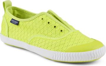 Sperry Paul Sperry Sayel Away Clew Perforated Sneaker Yellow, Size 6m Women's Shoes