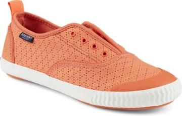Sperry Paul Sperry Sayel Away Clew Perforated Sneaker Coral, Size 6m Women's Shoes