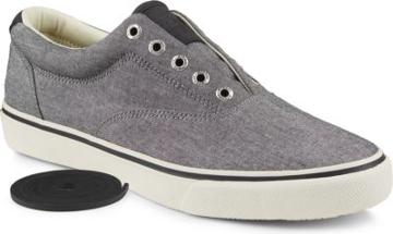 Sperry Striper Chambray Sneaker Black, Size 8m Men's Shoes