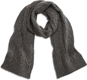Sperry Cable Knit Scarf Grey, Size One Size Women's