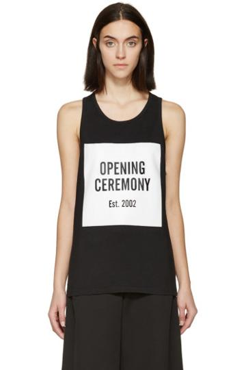 Opening Ceremony Black And White Logo Tank Top