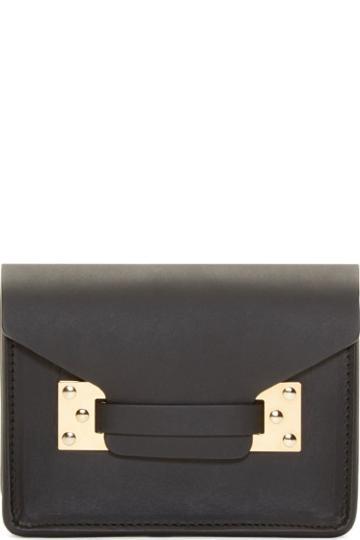 Sophie Hulme Black Milner Nano Shoulder Bag
