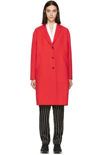 Rag And Bone Red Wool Blankett Coat